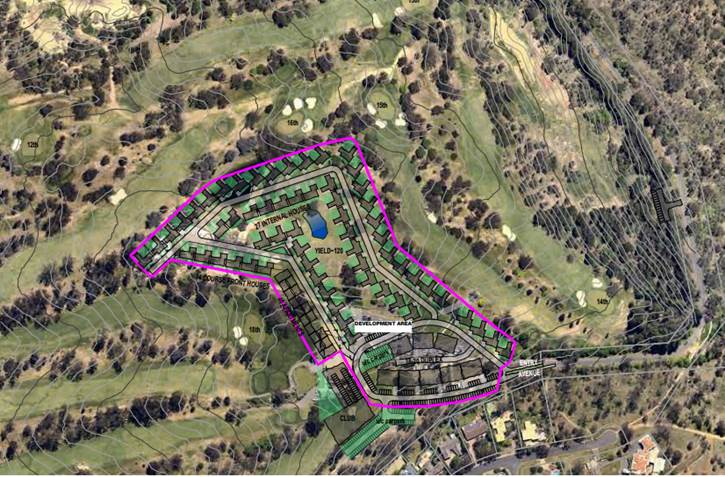 Proposed plan for housing development on Federal Golf Course, Red Hill